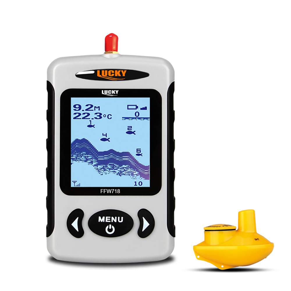 LUCKY FFW718 Wireless Fish Finder Sonar Sensor 45M Digital Design Nearby Fish Alarm Transducer Detector Fishfinder For Fishing lucky fishing sonar wireless wifi fish finder 50m130ft sea fish detect finder for ios android wi fi fish finder ff916