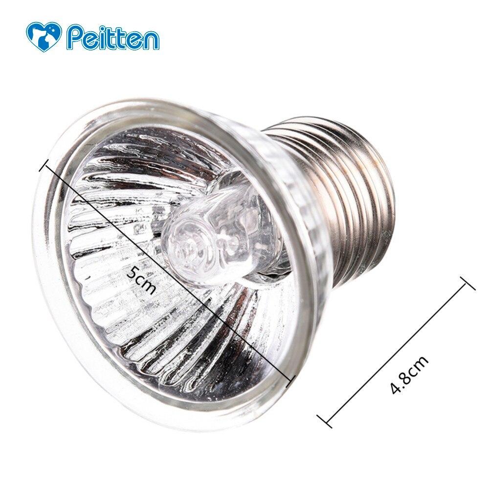 Adjustable 25/50/75w Uvb Turtle Sunburn Lights Reptile Heating Lamp Full Spectrum Sunlamp Heat Preservation Illumination Supply
