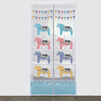 RUBIHOME Gauze Cartoon Animal Door Curtain Eparate For Bedroom And Dinning Room Decoration Home Textile Without
