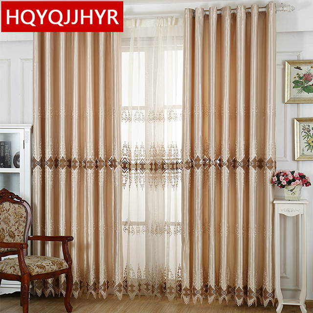 European Luxury Luxurious Curtains With Tulle For Living Room Sheer Bedroom Window Curtain Kitchen