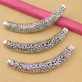 10pcs/lot vintage zinc alloy curved silver Plated cube spacer beads charms jewelry Tube beads For jewelry making DIY F921