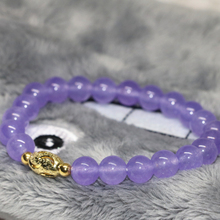 New fashion 8mm violet jade women strand bracelets round beads top quality weddings party gifts jewelry making 7.5inch B2063