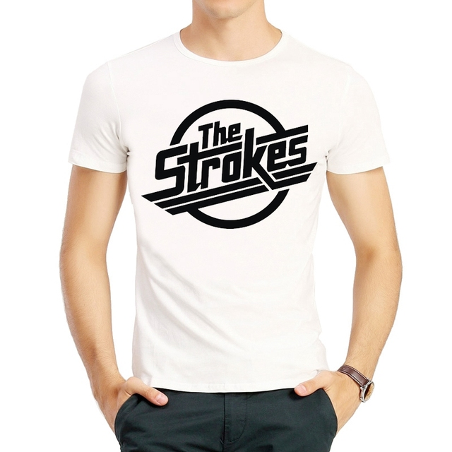 53cab5fb The Strokes T Shirt Summer Fashion Short Sleeve White Color The Strokes  Band Logo T Shirt Top Tees tshirt Unisex T-shirt