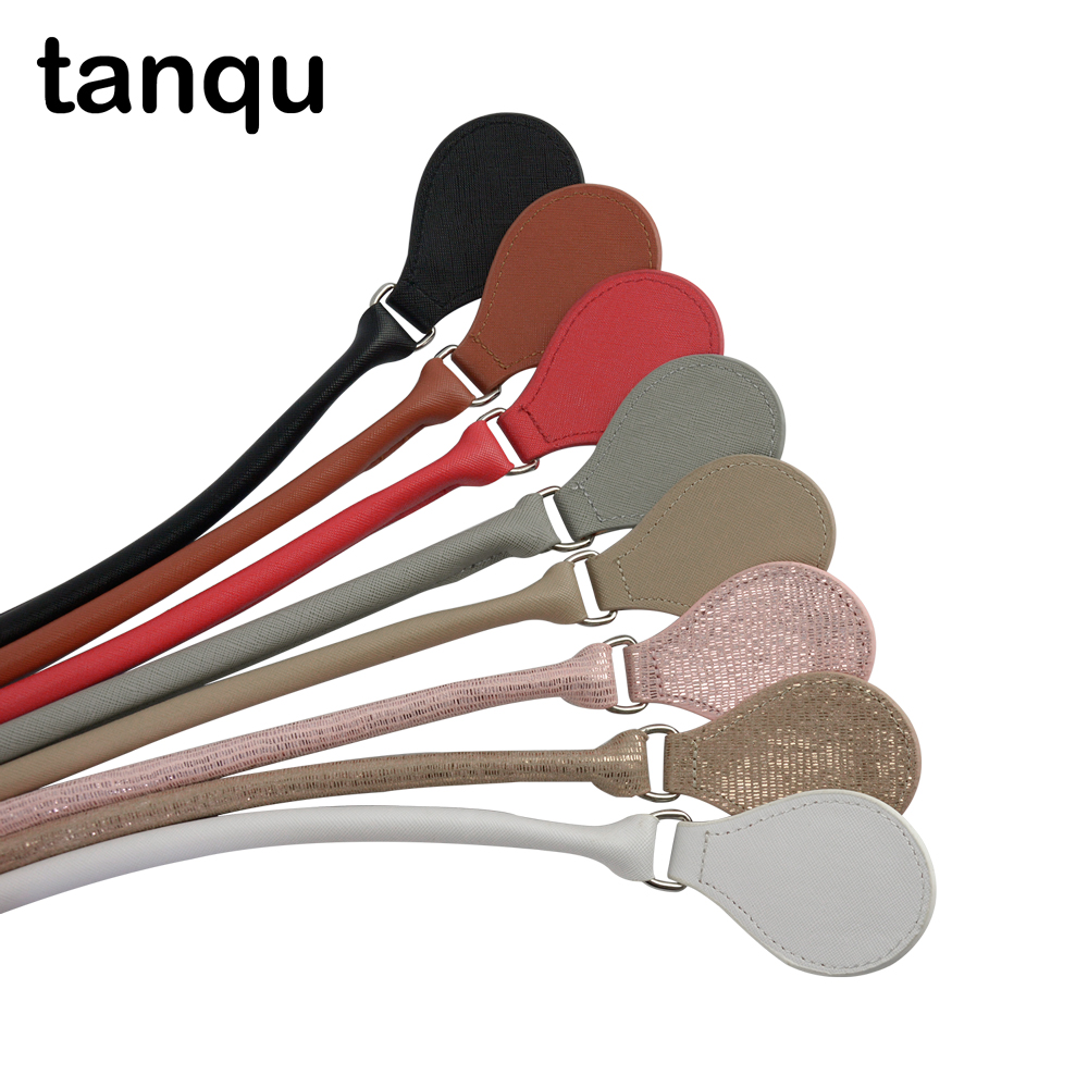 Tanqu  Leather Concise Round Belt Handle With D Buckle Drops For City Chic  Obag Basket Bucket Classic Mini  Women Handbag O Bag