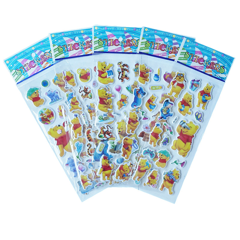 3Pcs / Lot Cartoon TV Winnie images Puffy Stickers 3D DIY toys for boys girls birthday gift Cute Puffy Children toys Stickers3Pcs / Lot Cartoon TV Winnie images Puffy Stickers 3D DIY toys for boys girls birthday gift Cute Puffy Children toys Stickers