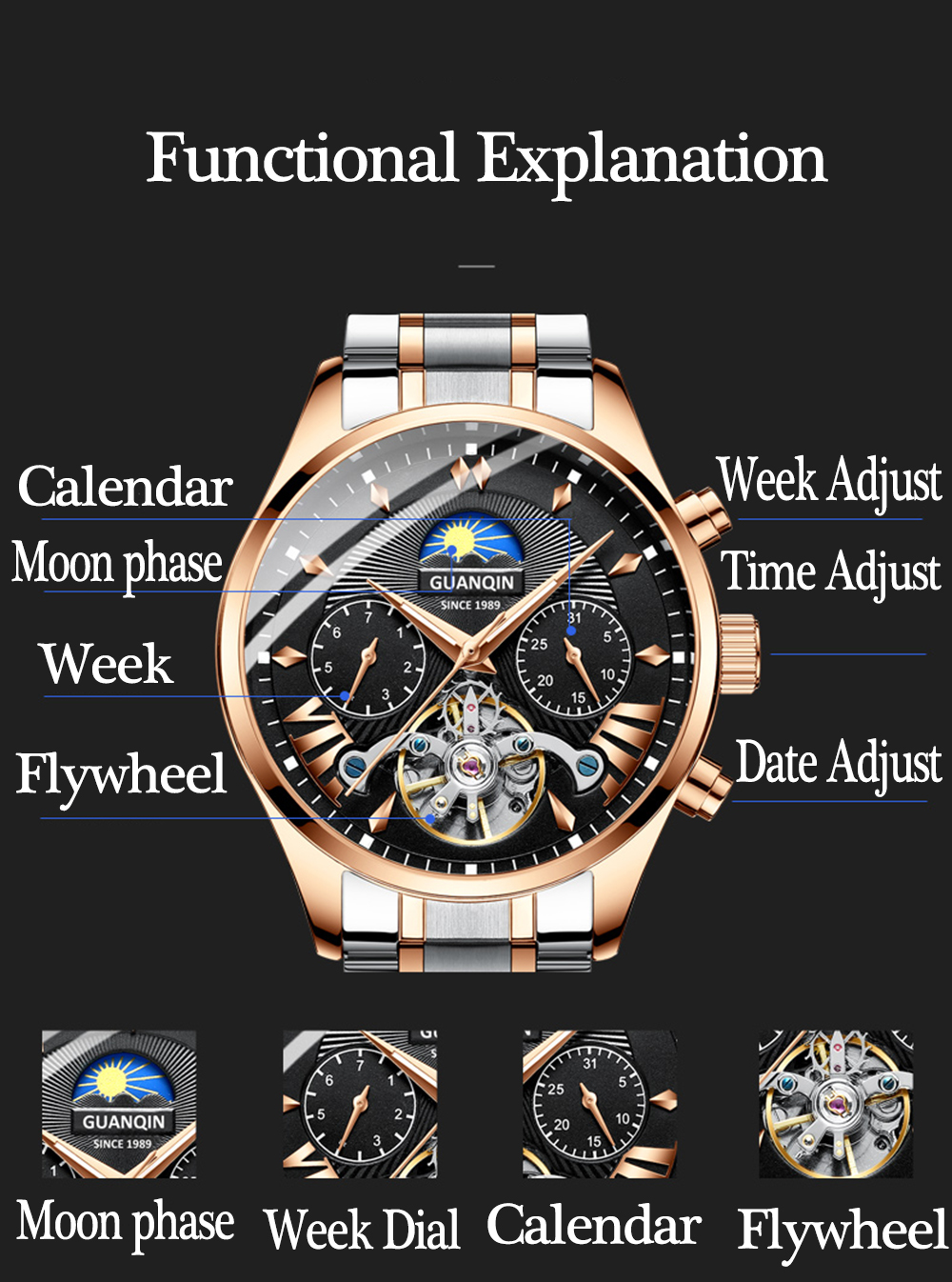 HTB1olkHRhnaK1RjSZFBq6AW7VXau GUANQIN 2019 clock men's/mens watches top brand luxury automatic/mechanical/luxury watch men gold tourbillon mens reloj hombre