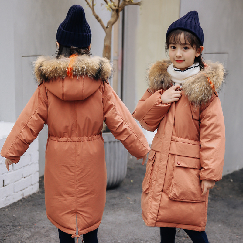 Girls Winter Coats Down Jacket For Girl Clothes Children Outerwear Coats 2018 New Winter Girls Hooded Jacket 2018 girls clothing warm down jacket for girl clothes 2018 winter thicken parka real fur hooded children outerwear snow coats