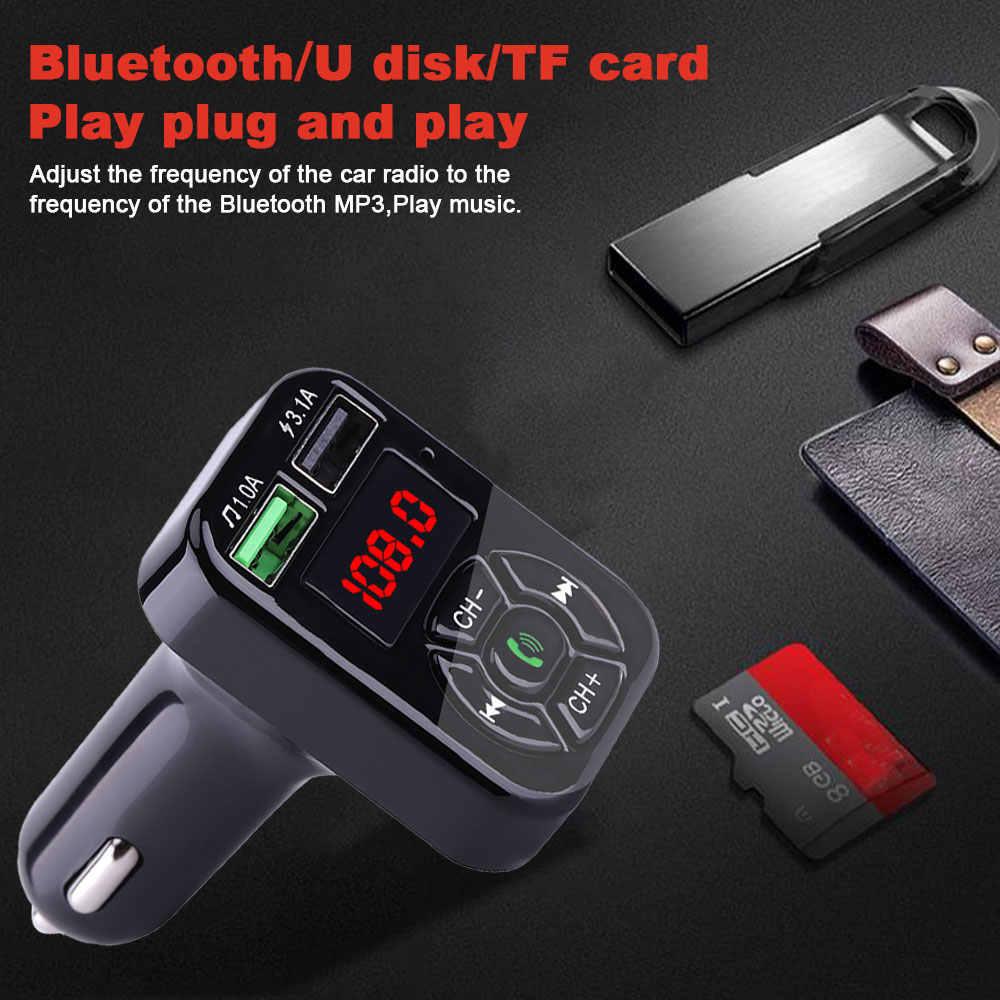 VR robot Bluetooth coche reproductor MP3 transmisor FM Kit de manos libres coche adaptador 5V 3.1A cargador USB con TF/U disco Audio música reproductor