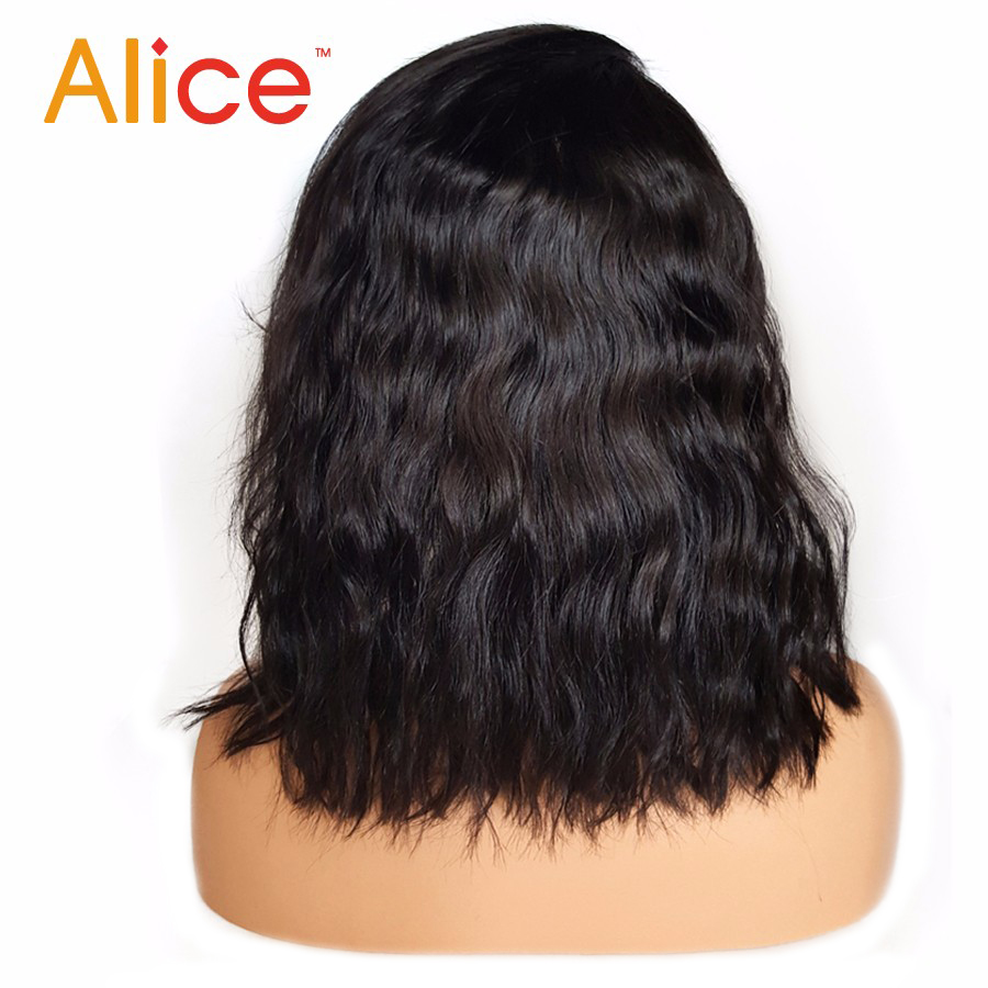 Alice Bleached Knots Full Lace Wigs Human Hair With Baby Hair Wavy Short Full Lace Human Hair Wigs For Black Women All Hand Tied (2)