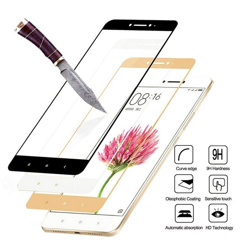 купить Full Cover Tempered Glass For Xiaomi Redmi 4X 5 Plus 4A 5A Redmi Note 5 Pro 4X Note 4 5A Prime Screen Protector Toughened Film по цене 73.89 рублей