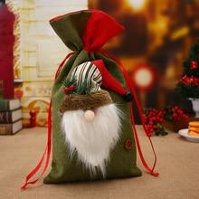 Smiry Новогодние товары большой Сумки небольшой плед Санта Клаус мешок подарков детские рождественские украшения мешок конфет безделушка Новогодние товары Дерево Украшения supplie
