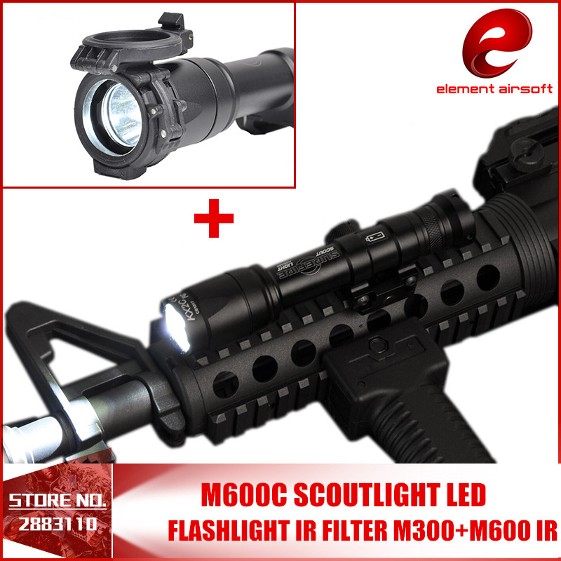 Element Airsoft M600C Tactical SF Weapon Flashlights with IR Filter For M300 M600 Light Diameter 25 EX072 NE04023