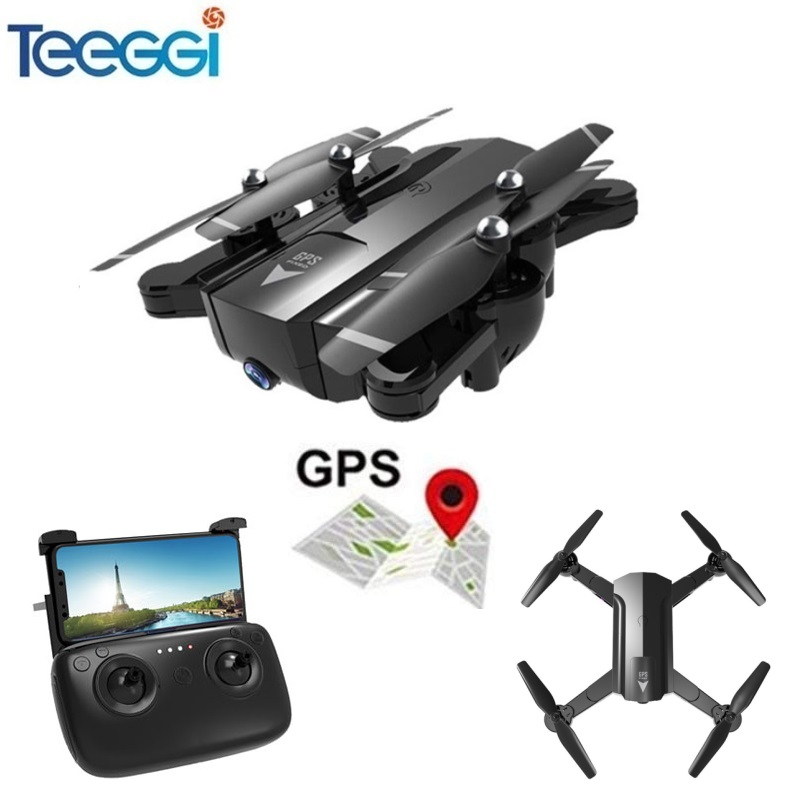 Teeggi S70W Follow Me Mode RC Drone with Adjustable FPV 1080P HD Camera GPS Professional Quadcopter Helicopter VS X8 Pro X8Pro 8