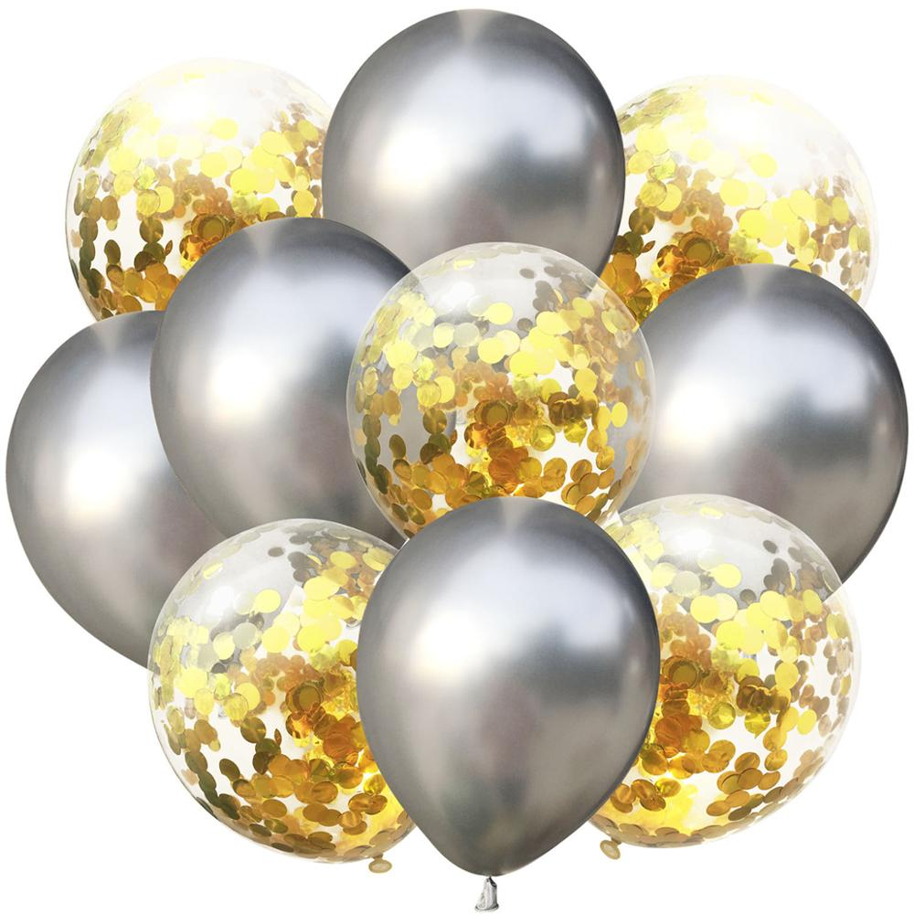 LAPHIL 10 pcs Multi Confetti Ballonnen Happy Birthday Party Decoraties Kids Blauw Roze Jongen Meisje Baby Shower Benodigdheden Geslacht Onthullen 2