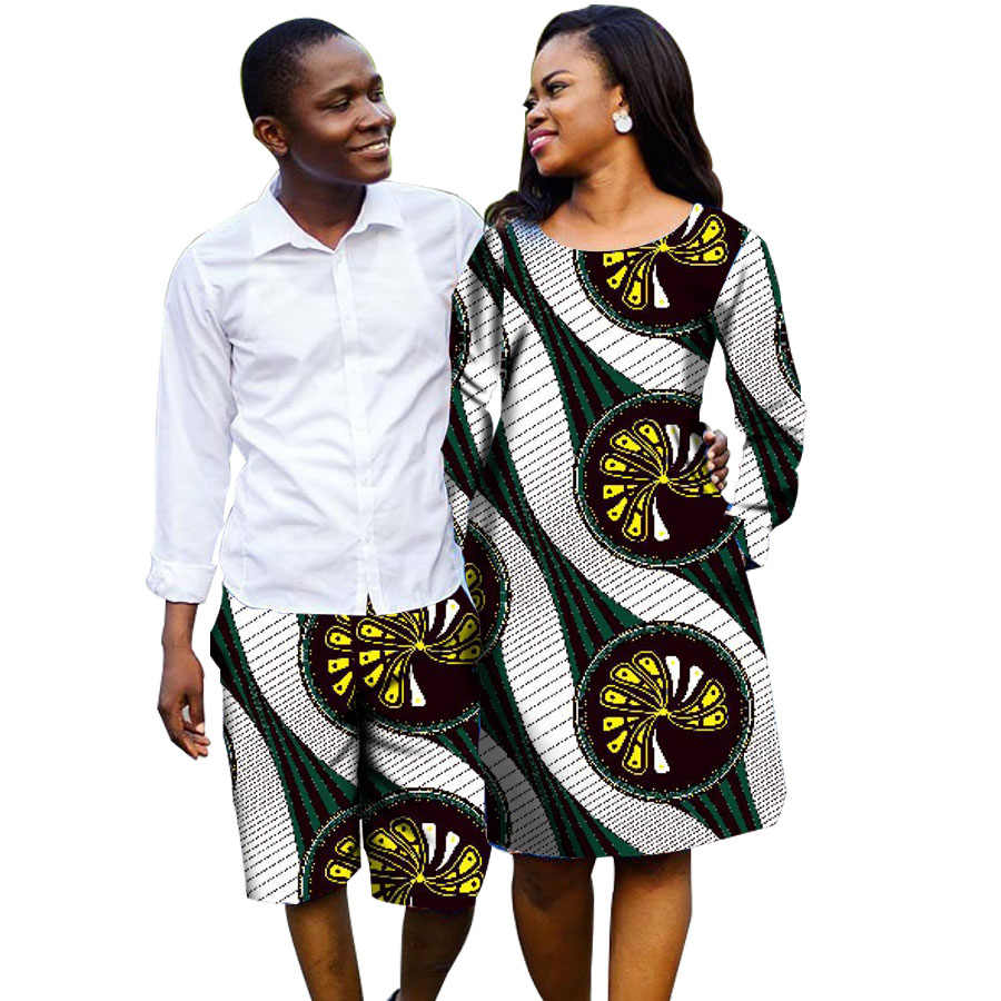 41631b850ec African Couple Outfit Women Dresses Men Shorts Outfit for Couples Couple's  Prom Outfits Africa Clothing For Men And Women