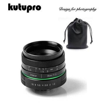 35mm F1.6 Manual Wide Angle Prime Len + C-NEX/NX/M4/3 Macro Len for Canon Nikon Sony Fujifilm Pentax Samsung LumixSLR camera
