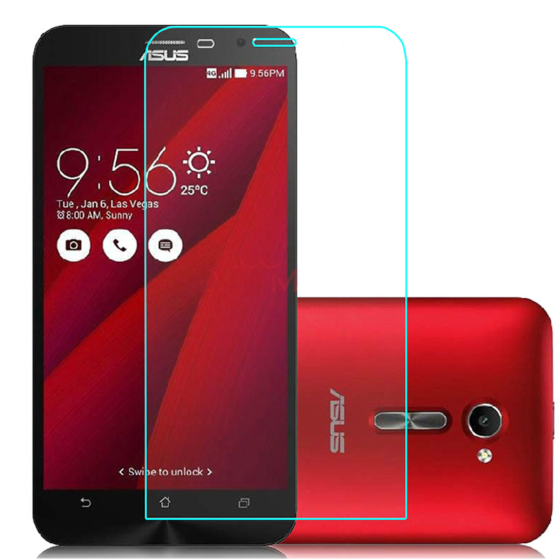 HATOLY 2PCS Tempered Glass for Asus Zenfone 2 ZE500CL ZE500kl ZE550KL ZE601KL ZE551ML Screen Glasses Clear Protective Film ^<-in Fitted Cases from Cellphones & Telecommunications
