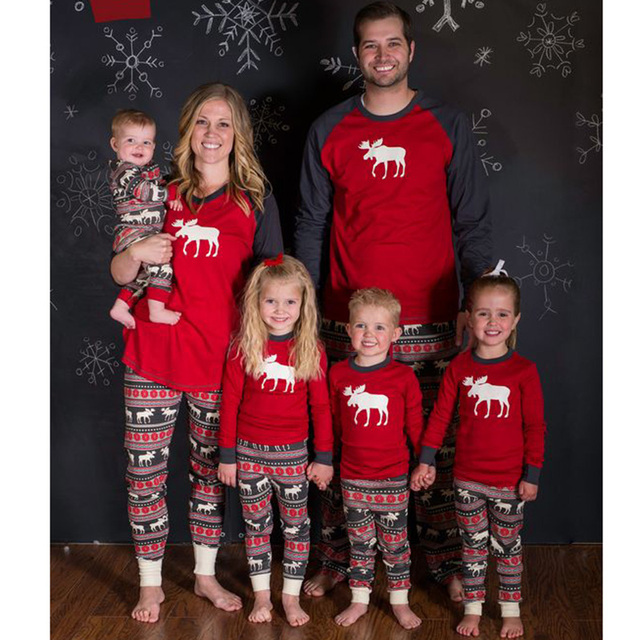 6020653124 NEW Christmas pjs family matching family xmas pajamas set adult kids  sleepwear new year mother father boys girls photos prop hot
