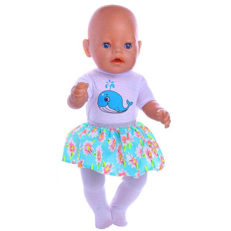 3pcs Doll Clothes  fit 43cm Baby Born zapf for American Girl Doll Children best Birthday Gift N37 [mmmaww] christmas costume clothes for 18 45cm american girl doll santa sets with hat for alexander doll baby girl gift toy