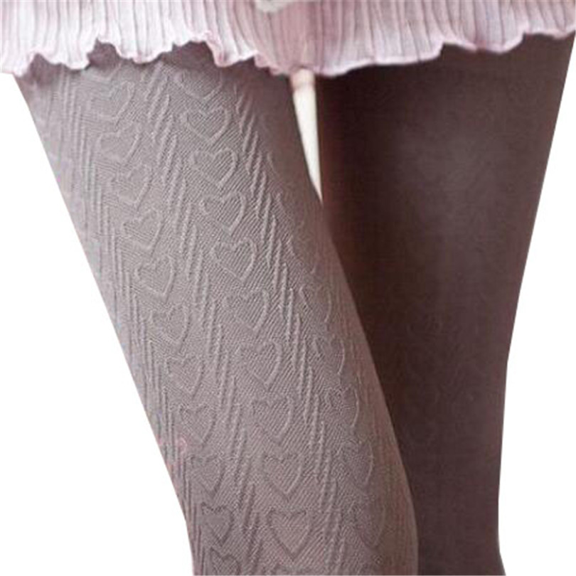 VISNXGI 2018 Spring Ladies 6 Color Optional Hot Velvet Love 140D Pantyhose SIZE Tights High Elastic Women Sexy Solid Tights