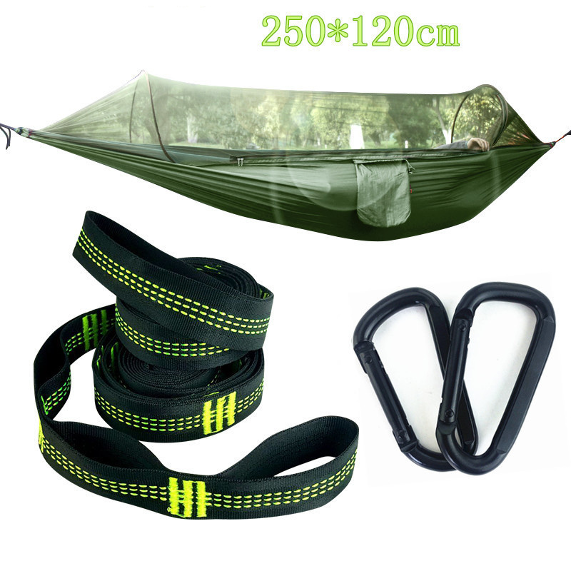 Multiuse Portable Hammock Camping Survivor travel casual Hammock with Mosquito Net Stuff Sack unnel Shape Swing Bed Tent 2 people portable parachute hammock outdoor survival camping hammocks garden leisure travel double hanging swing 2 6m 1 4m 3m 2m