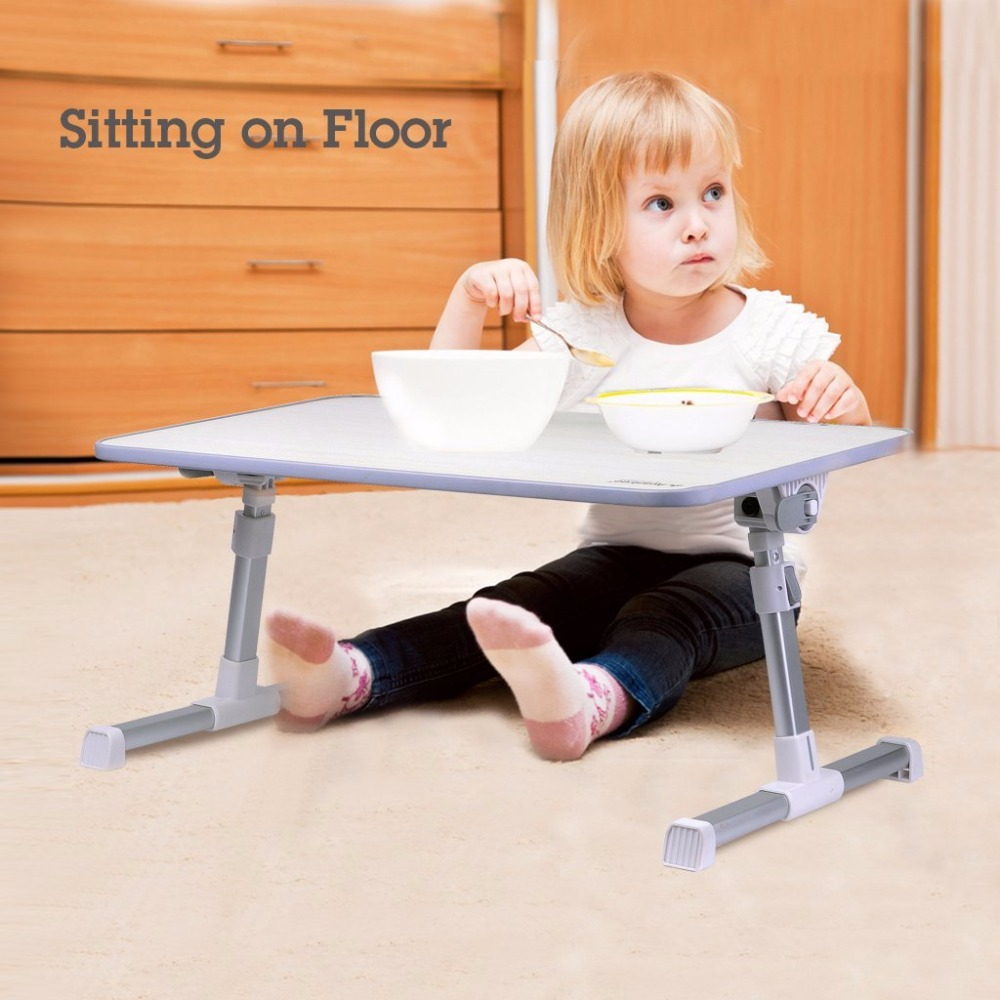 Quality Adjustable Laptop Table, Portable Standing Bed Desk, Foldable Sofa Breakfast Tray, Notebook Stand Reading Holder for Kid aluminum alloy adjustable laptop desk lapdesks computer table stand notebook with cooling fan mouse board for bed sofa tray