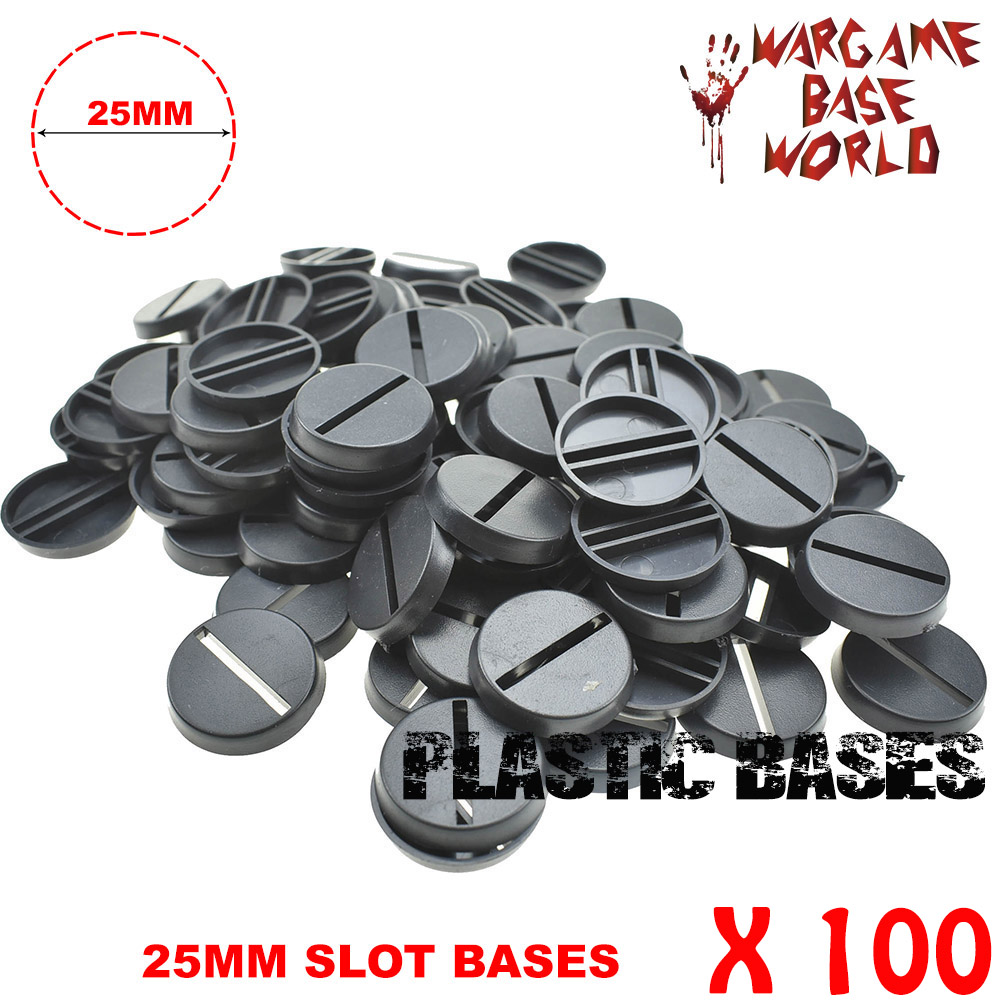 25mm Round Slot Bases For Gaming Miniatures And Table Games 100pcs