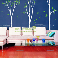Free Shipping Oversized Family Tree Vinyl Removable Wall Art Stickers Large Size Pink White Big Tree