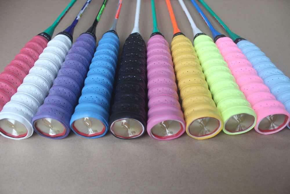 dry sweat band grip (10 pcs in one set) badminton racket sweat band . tennis racket overgrips . Mai Xiang brand produce