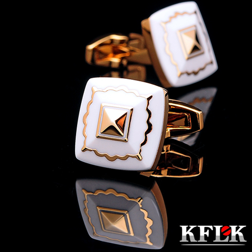 KFLK luxury 2019 New HOT shirt cufflink for men Brand cuff button wedding cuff link High Quality Gold abotoaduras Jewelry