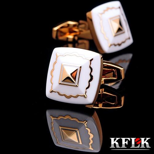 KFLK lujo 2019 Nueva camisa CALIENTE mancuerna para hombres Marca botón de mancuerna boda gemelo Joyería de abotoaduras de oro de alta calidad