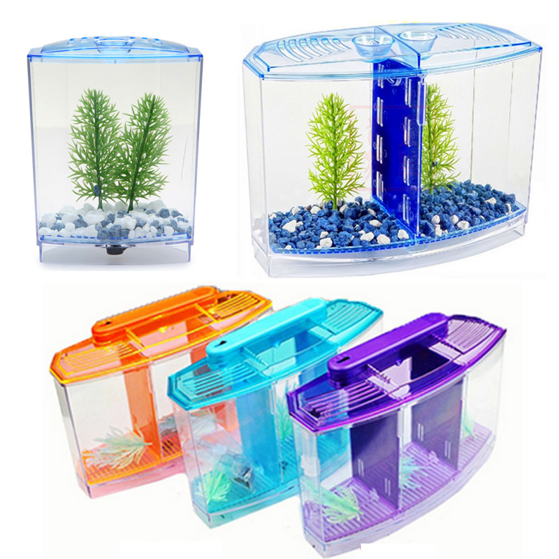 Arcylic Betta Guppy Baby Small Fish Separation Fish Bow Aquarium Breeding Box in Aquariums