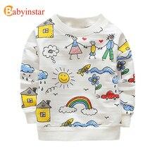 Babyinstar Kids T-shirts Cute Family Graffiti Boys T Shirt Long Sleeve Baby Girls Tops Tees 2017 Spring Autumn Children's Tees