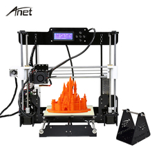 Анет A8 автоматическое выравнивание 3D-принтеры большой Размеры Многоязычная Высокая точность RepRap Prusai3 DIY 3D-принтеры Комплект Алюминий очаг