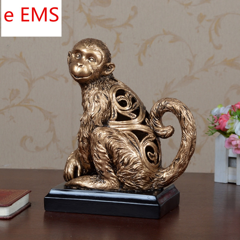 Art-Material Statue Animals Home-Decorations Bust Cute Resin Monkeys L2359 Craftwork