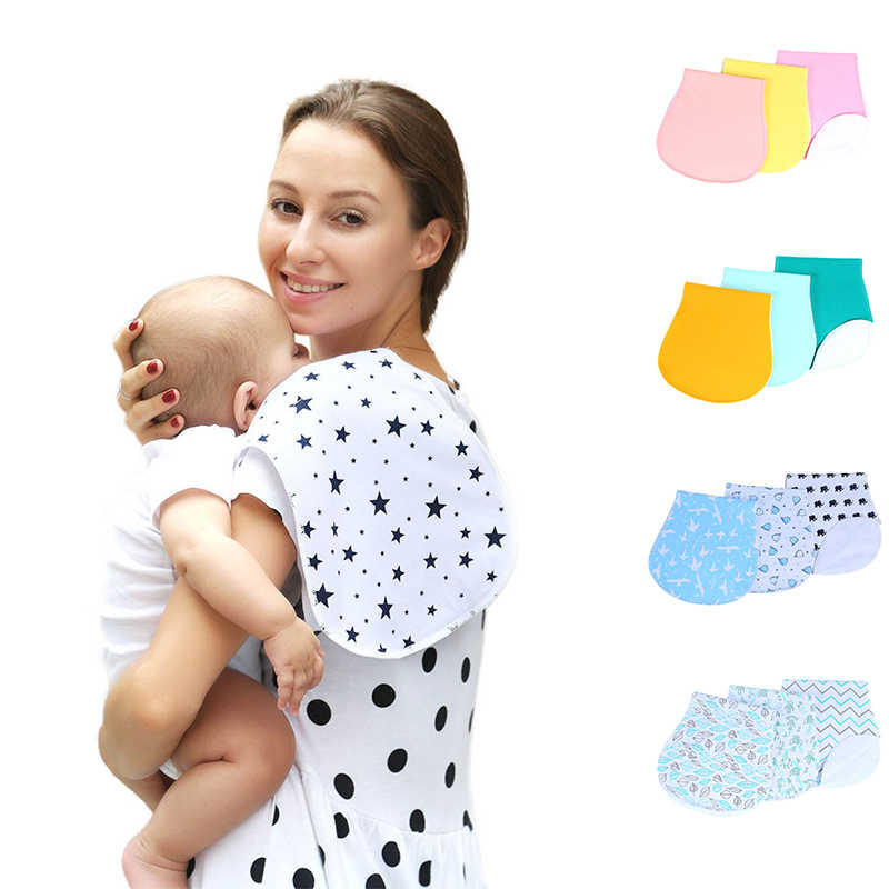 100% Organic Cotton Bibs Baby Burp Cloths For Newborns Soft And Absorbent Towels Burping Rags For Baby Shower Gift Set Newborns
