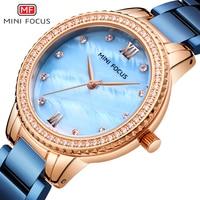 MINIFOCUS Fashion Women Watches Waterproof Stainless Steel Watch Woman Lady Women's Wristwatches Ladies Watches Top Brand Luxury