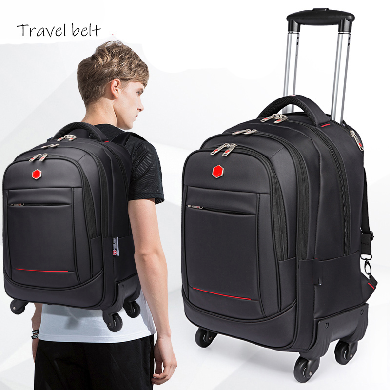 outdoor High quality oxford Travel Bags Spinner Multifunctional shoulder Suitcase Wheels 18 inch Carry On Rolling