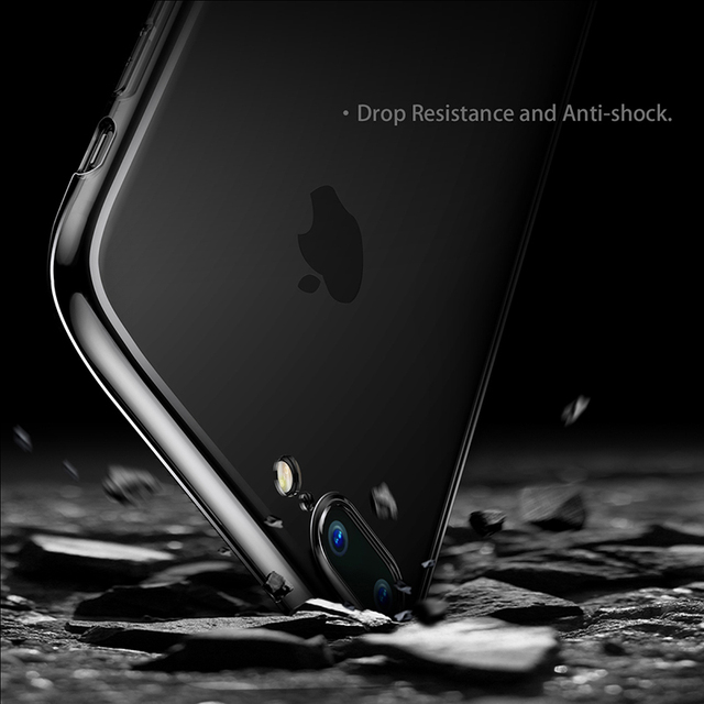 Clear Case: Black or Full Transparent Silicone Case for iPhone 7 7 Plus 8 8 Plus (TPU iPhone Case) by Baseus 3