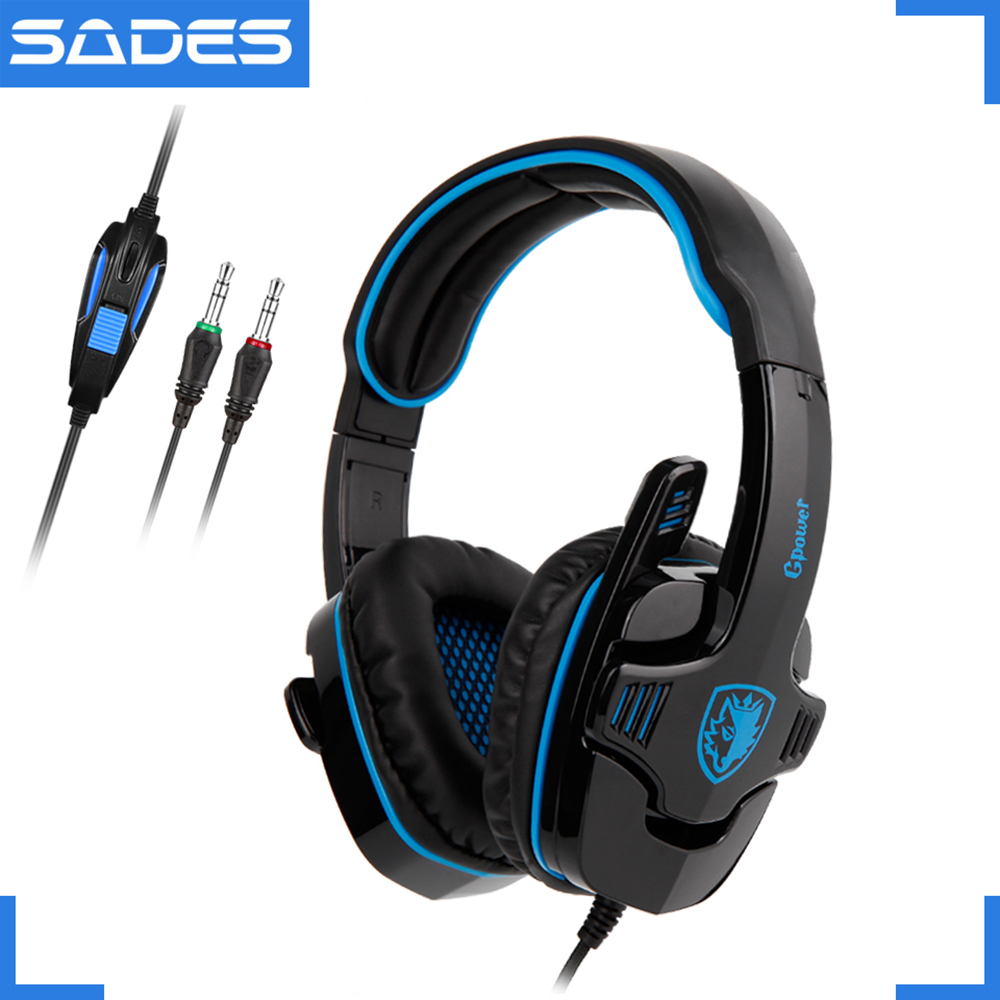 SADES GPOWER Entry Level Gaming Headset Stereo Sound DJ Music Wired Headphone Applicable to PC/PS4 dj микшеры gemini ps4 dj