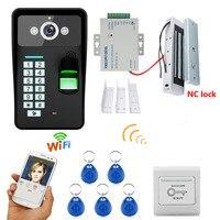 Полный комплект rfid системы контроля доступа к двери комплект + Электрический магнитный дверной замок водонепроницаемый видеодомофон домоф