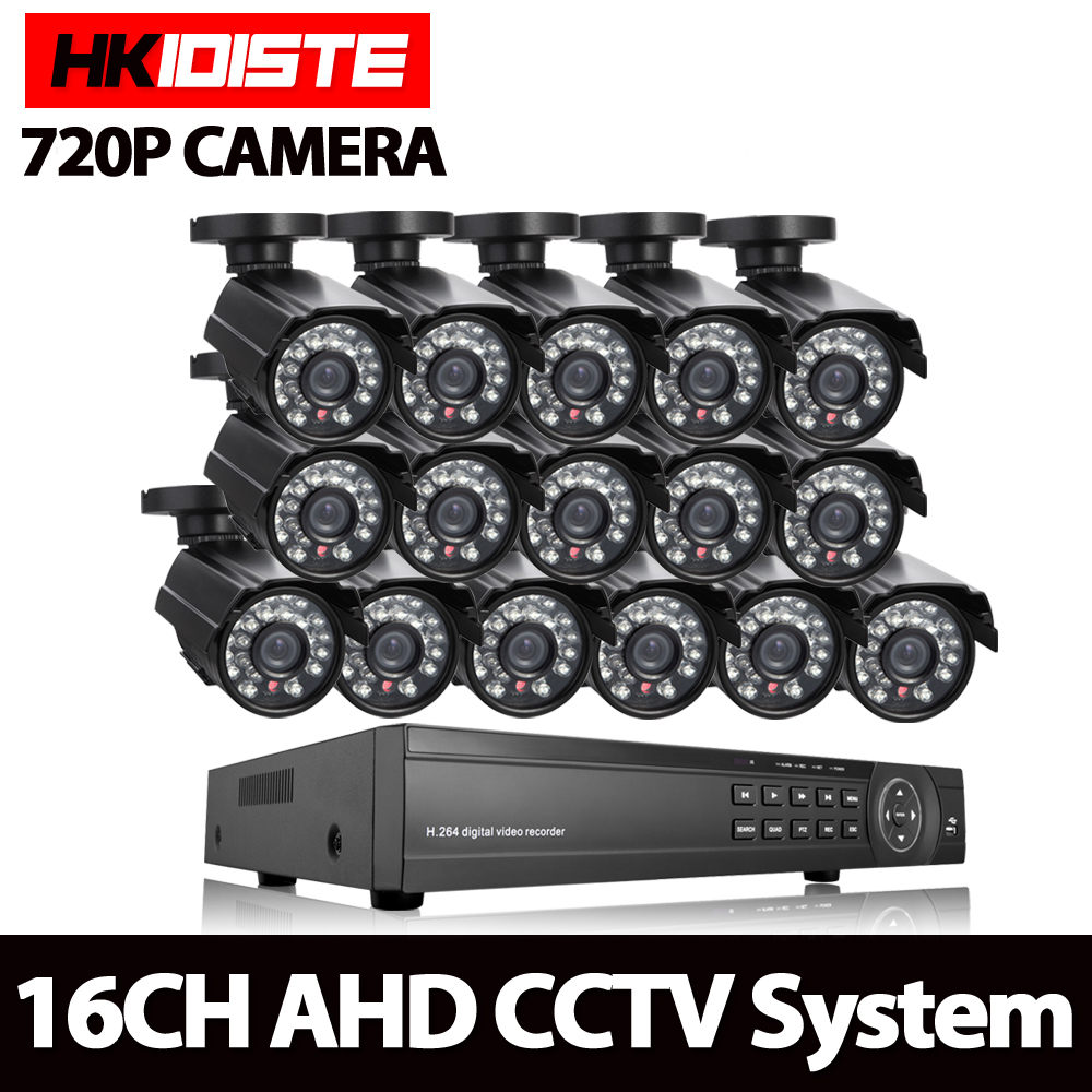 16CH 1080 P AHD NVR Kit Onvif AHD HD HDMI 1.0MP 16 pz 720 P Macchina Fotografica di visione notturna impermeabile p2p copertura cctv Surveillance kit telecamera16CH 1080 P AHD NVR Kit Onvif AHD HD HDMI 1.0MP 16 pz 720 P Macchina Fotografica di visione notturna impermeabile p2p copertura cctv Surveillance kit telecamera