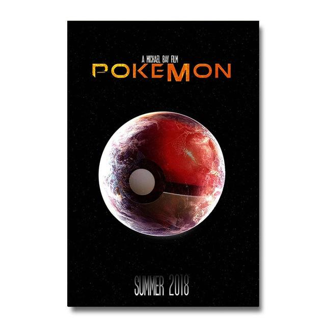 Аниме Плакат гобелен Покебол Покемоны материал шелк вариант 1