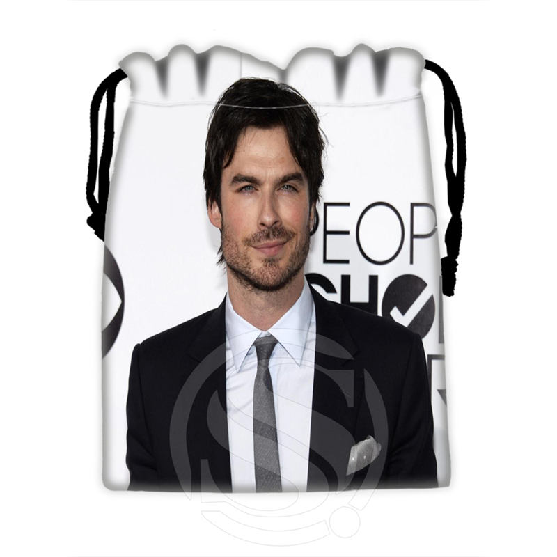 H-P732 Custom Ian Somerhalder#6 Drawstring Bags For Mobile Phone Tablet PC Packaging Gift Bags18X22cm SQ00806#H0732