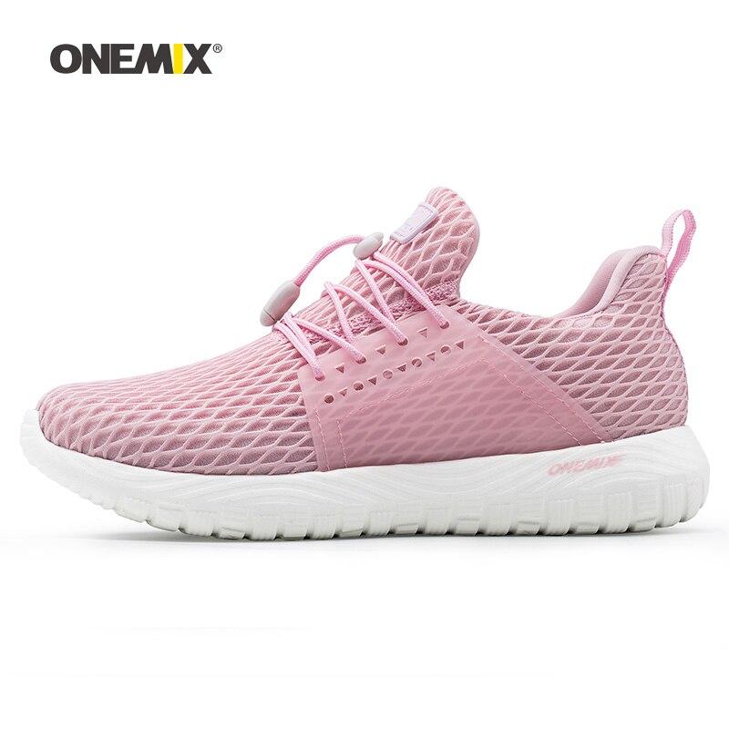 Onemix femme chaussures de course pour femmes maille Air respirant Designer classique Trail Jogging baskets Sport de plein Air marche formateurs
