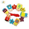 Детские Игрушки для Мальчиков и Grils Существо Блоки Робот Pattern Бусы Принцесса Обучающие Деревянная Игрушка