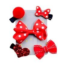 Kids girl Pink crown flower series Hairpin Wedding Birthday Gift Cartoon animal motifs Hair Clip Set
