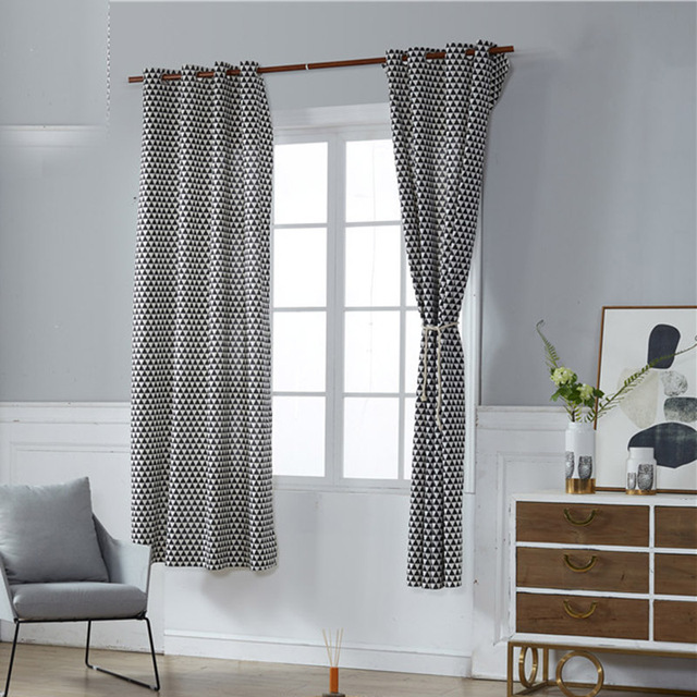 Kiwiberry Geometric Custom Curtain Contracted Contemporary Curtains ...