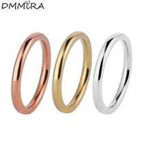 hot deal buy hot sale fashion men women small narrow rings silver rose gold stainless steel round love small joint finger rings jewelry