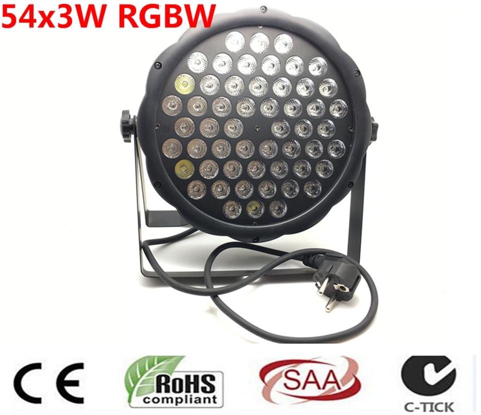 LED 54X3w RGBW LED Luz Par para el teatro LED Profesional luz de la boda dj luz